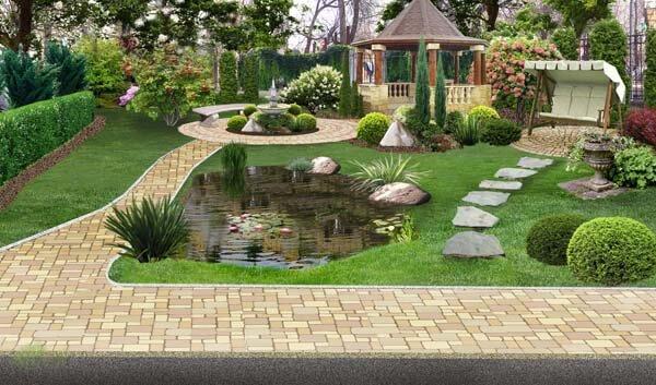 Ландшафтный дизайн из натурального камня
