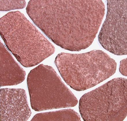 Известняк розовый, огалтованный ландшафный