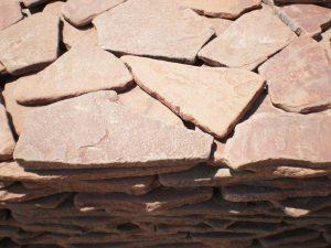 Песчаник красный, огалтованный